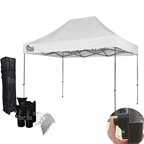 10x15 white pop up tent