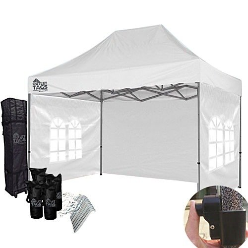 10×15 White Canopy with Walls