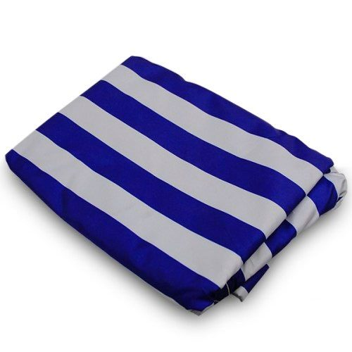 blue white striped canopy tarp