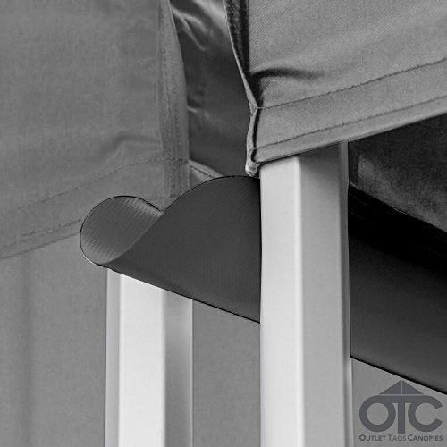 Pop-Up Canopy Tent 10ftX10ft Water (Drain) Gutter -Black