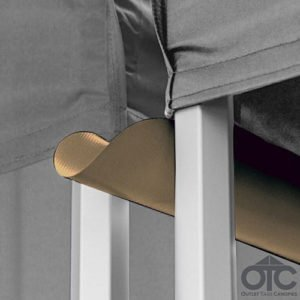 brown canopy gutter