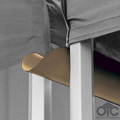 Pop-Up Canopy Tent 10ftX10ft Water (Drain) Gutter -Brown