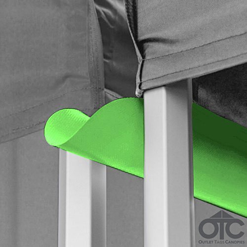 Pop-Up Canopy Tent 10ftX10ft Water (Drain) Gutter - Lime Green