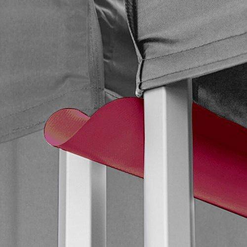 Burgundy/Maroon Canopy Rain Gutter