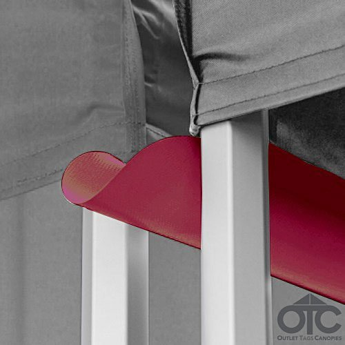Pop-Up Canopy Tent 10ftX10ft Water (Drain) Gutter -Burgundy/Maroon
