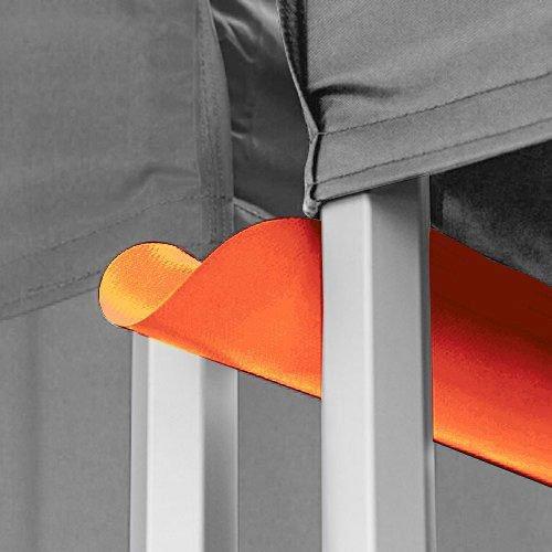 premium quality orange canopy tent rain gutter