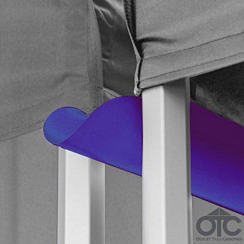 Pop-Up Canopy Tent 10ftX10ft Water (Drain) Gutter -Purple