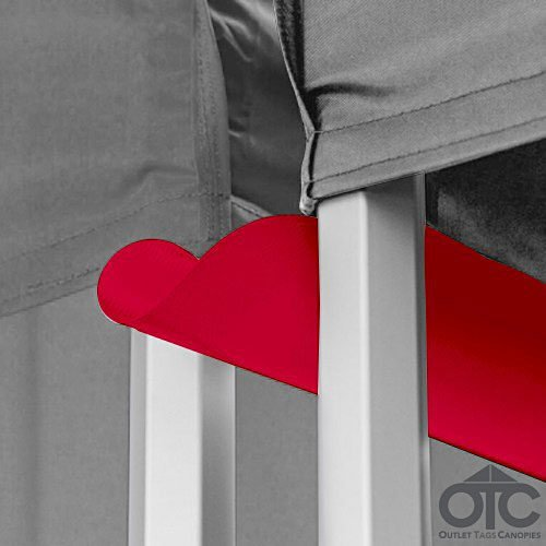 Pop-Up Canopy Tent 10ftX10ft Water (Drain) Gutter -Red