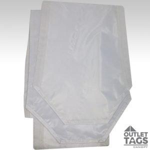 10x10 White Rain Gutter