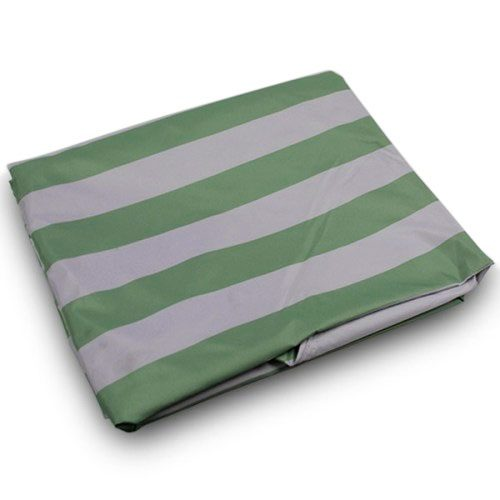 Green White Stripe Canopy Tarp in 10x10