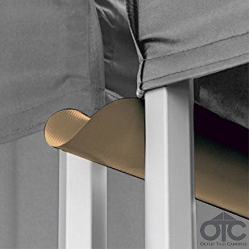 Pop-Up Canopy Tent 10ftX10ft Water (Drain) Gutter -Khaki