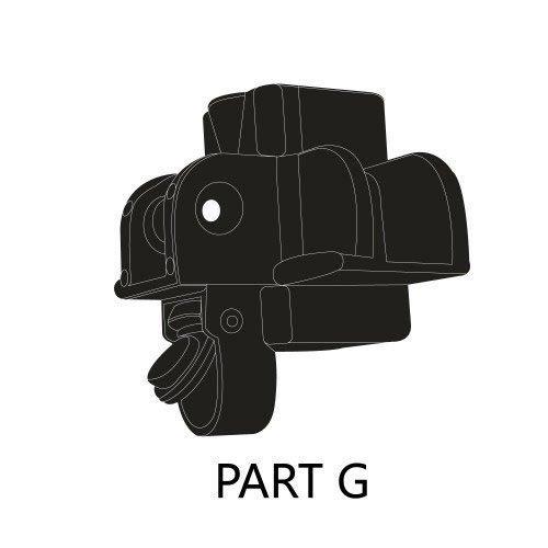 10ftx10ft Iron Horse Tent Part G - Coroner Lock Pad