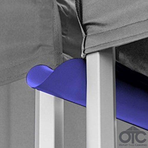 Pop-Up Canopy Tent 10ftX10ft Water (Drain) Gutter -Light Blue