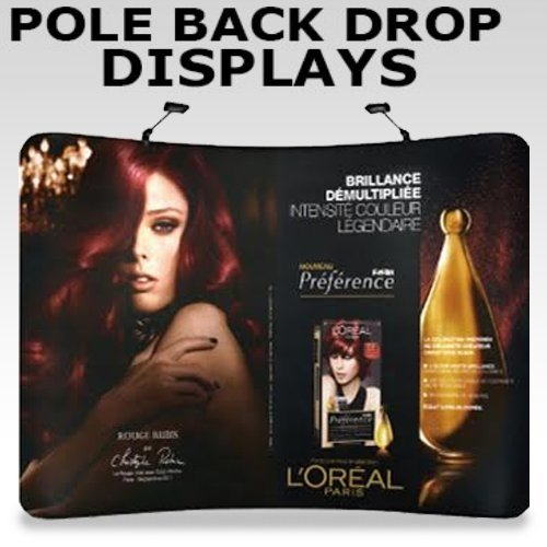 pole back drop display