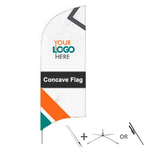 Buy custom concave flags from OTC Canopies
