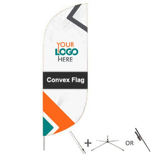 Buy convex flags from OTC Canopies
