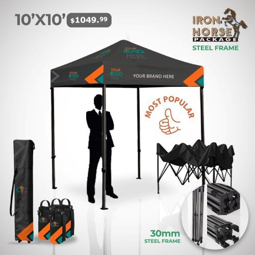 10x10 Custom Tent Package
