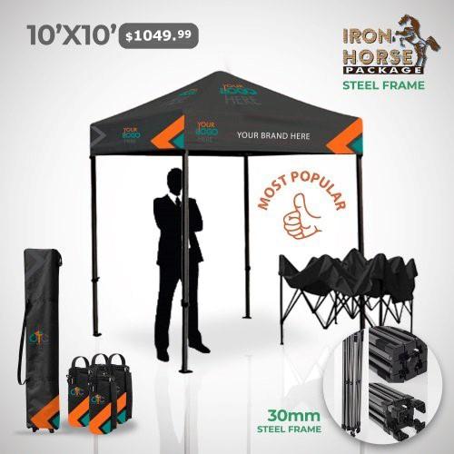 10x10 Custom Tent Package
